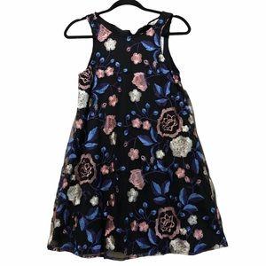 Aeropostal embroidered floral shift dress